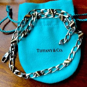Tiffany & Co. Sterling & 18k necklace